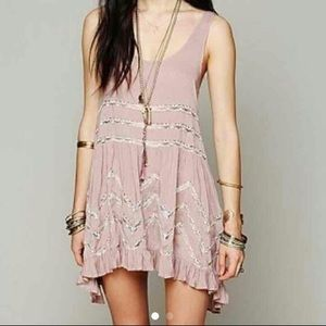 Dusty Lilac Free People Trapeze Swing Dress
